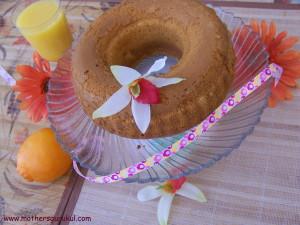 eggless orange cake 1