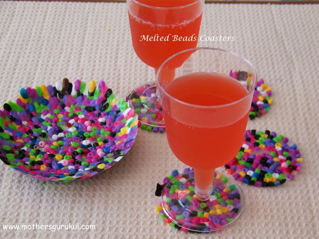 meletd beads coasters