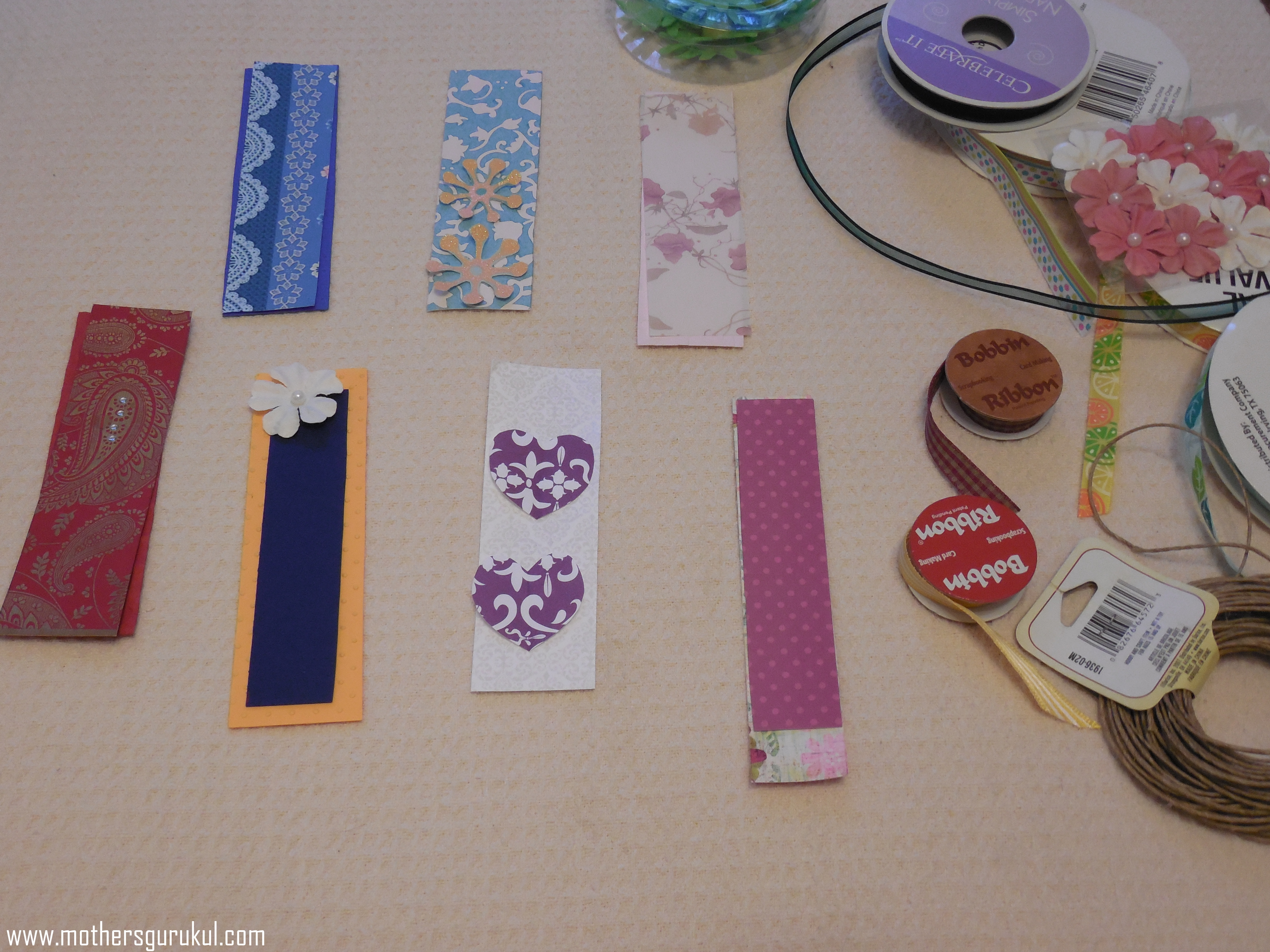Different Shapes of Paper Bookmarks