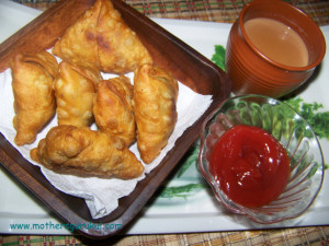Fried pastry filled with savory filling