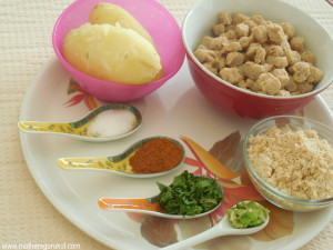 Ingredients for making kababs
