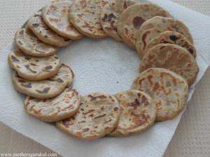 Aloo-Matar kachori, roasted