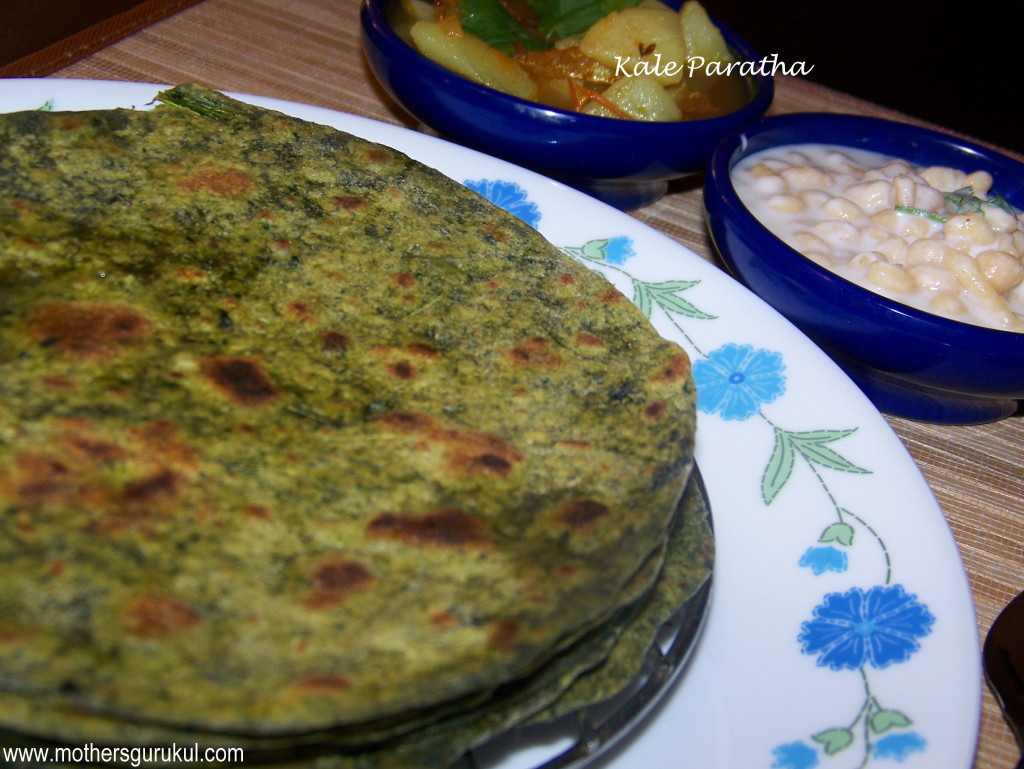 kale paratha