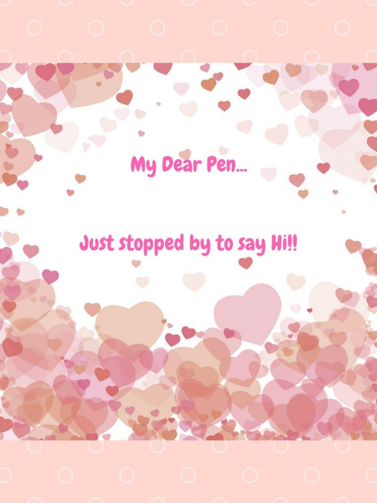 letter of letter to pen